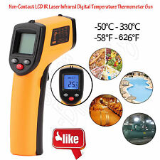 Handheld Digital Thermometer LCD Temperature IR Laser Infrared BBQ Industry LOT
