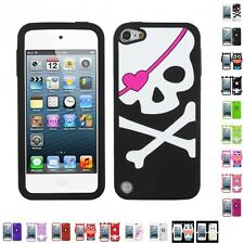 For Apple iPod Touch 5th 6th Gen Silicone Design Skin Soft Phone Case Cover