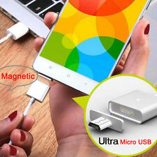 LED Android Micro USB Cable Strong Magnetic Adapter Charger For Phone Tablet Lot