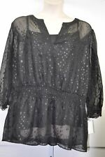 "Alfani Woman Top Blouse ""Ebony Black"" 2 Piece Cocktail Size 24W MSRP $75"