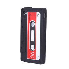 2 Colors Funny Retro Cassette Tape Silicone Back Cover Case for iPhone 4 4S