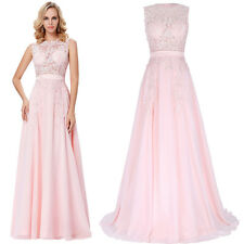 New Long Bridesmaid Lace Formal Evening Gown Dress Cocktail Party Prom Gown