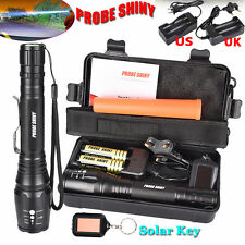 8000Lm X800 XML T6 LED Zoom Tactical Military Flashlight Lamps Super Torches Set
