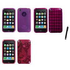 For Apple iPhone 3G / 3G S TPU Rubber Skin Flexible Case Phone Cover Stylus Pen