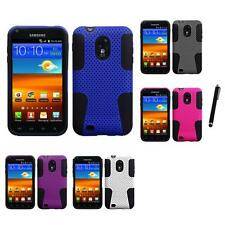 For Samsung Epic Touch 4G D710 Hybrid Rugged Impact Hard Soft Case Stylus Pen
