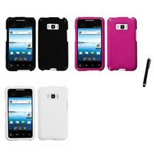 For LG Optimus Elite LS696 Rigid Plastic Hard Snap-On Case Cover Stylus Pen