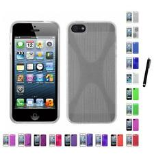 For Apple iPhone 5/5S/SE TPU Rubber Skin Flexible Case Phone Cover Stylus Pen