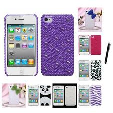 For Apple iPhone 4/4S Diamond Bling Rhinestone Case Phone Cover Stylus Pen