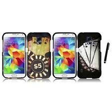 For Samsung S5 Active Snap-On Design Rubberized Hard Phone Case Stylus Pen