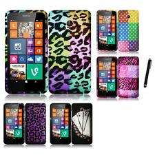 For Nokia Lumia 630 635 Snap-On Design Rubberized Hard Phone Case Stylus Pen