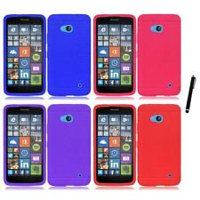For Nokia Lumia 640 Rugged Thick Silicone Grip Soft Skin Case Cover Stylus Pen