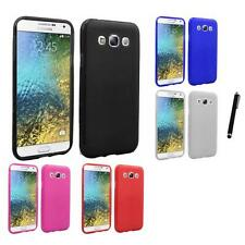 For Samsung Galaxy E5 S978L TPU Rubber Flexible Phone Skin Case Cover Stylus Pen