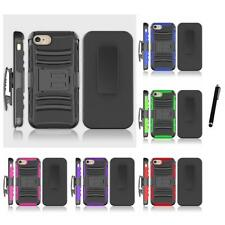 For Apple iPhone 7 [4.7] Holster Armor Kickstand 3-Piece Case Cover Stylus Pen