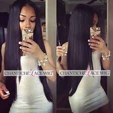 Chantiche Lace Front Wig Silky Straihght Indian Remy Human Hair Full Lace Wigs