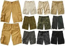 AEROPOSTALE MENS CARGO SHORTS KHAKI BELT PLAID CAMO POCKETS BASIC SOLID NWT