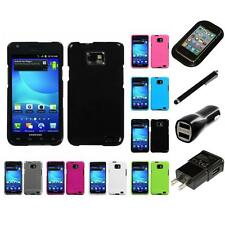 For Samsung Galaxy S2 i9100 Rigid Plastic Hard Snap-On Case Cover Charger Stylus