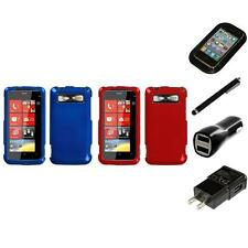 For HTC Trophy T8686 Rigid Plastic Hard Snap-On Case Phone Cover Charger Stylus