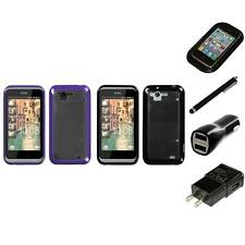 For HTC Rhyme / Bliss TPU Hard Case Skin Phone Cover Charger Stylus