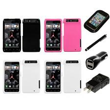 For Motorola Droid Razr XT912 Rigid Plastic Hard Snap-On Case Cover Charger