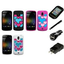 For Samsung Droid Prime i515 Silicone Design Skin Soft Phone Case Charger Stylus