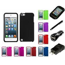 For Apple iPod Touch 5th 6th Gen Rigid Plastic Hard Snap-On Case Charger Stylus