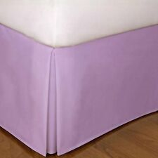 One Bed Skirt/valance 100% Egyptian Cotton 15 Inch Drop 1000 TC Lavender Solid
