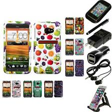 For HTC EVO 4G LTE Design Snap-On Hard Case Phone Skin Cover Accessories