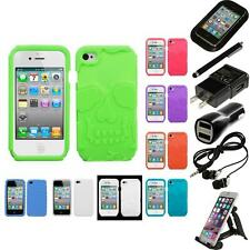 For Apple iPhone 4/4S Silicone Skin Rubber Soft Case Phone Cover Accessories