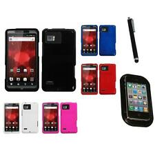 For Motorola Droid Bionic XT875 Rigid Plastic Hard Snap-On Case Cover Mount+Pen