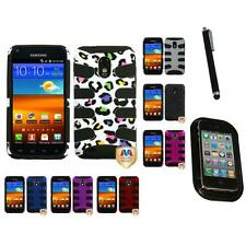 For Samsung Epic Touch 4G D710 Hybrid IMPACT Hard Rugged Armor Case Mount+Pen