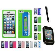 For Apple iPhone 5/5S/SE Silicone Skin Rubber Soft Case Phone Cover Mount+Pen