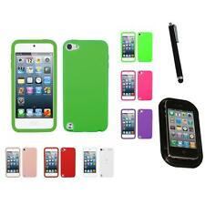 For Apple iPod Touch 5th 6th Gen Silicone Skin Rubber Soft Case Cover Mount+Pen