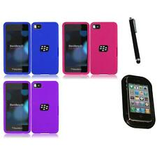 For BlackBerry Z10 Silicone Skin Soft Rubber Case Phone Cover Mount+Pen
