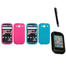 For Samsung Stratosphere 3 Silicone Skin Rubber Soft Case Phone Cover Mount+Pen
