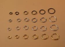 Round Cut Open Jump Ring Thin Connector Link Attach Charm Clasp Finding 21 Gauge