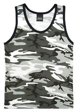 City Camo Urban TANK TOP Muscle Shirt PT Work Out US Marine Corps USMC Army S-3X