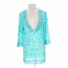 PJ Salvage Teal blue Floral Tunic Small New