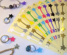Star Shaped Jewellery Price Stickers 16 x 54mm Tags / Labels / Dumbells