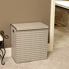 Collapsible Laundry Sorter with Lid, Chevron