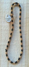 """Small Natural Wooden Beads Strung on Cord or Short Necklace- 16"""" - 175-185 Count"""