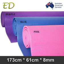 Brand New Free Postage Extra Thick 8MM Nonslip PVC Yoga Gym Pilate Mat 3 Colors