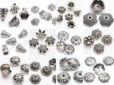 30Pcs Wholsale Tibet Silver Flower Spacer Bead Caps Jewelry Making Findings DIY