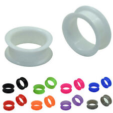 Soft Silicone Ear Tunnel Plugs Gauges Double Flared Flexible Flesh Jewelry
