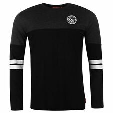 Kickers Men Gents T-Shirt Cut and Sew Stripe Stamp Crew Long Sleeve Top Clothing