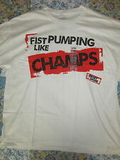 Jersey Shore Fist Pumping Like Champs White Graphic T-Shirt