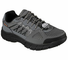 77084 W Wide Width Gray Skechers Shoes Work Men's Slip Resistant Anti Static ESD
