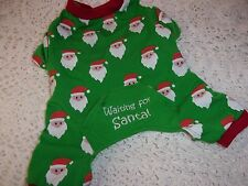 WAITING FOR SANTA Dog Pajamas XS Pjs new puppy pet christmas Xsmall Holiday cat