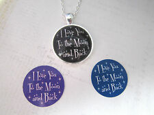 Valentines Day I Love You To The Moon And Back Silver Necklace New in Gift Bag