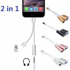 Headphone Music Adapter Charging Charger Cable For Apple Iphone 7/7 Plus