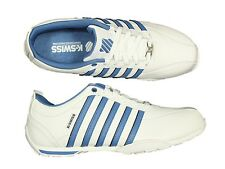 MENS TRAINERS K.SWISS ARVEE1.5 WHITE BRUNNER BLUR LACE UP LEATHER ALL SIZES 6-12